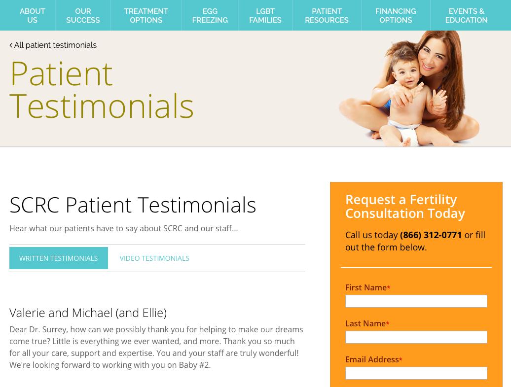Screnshot of Healthcare Clinic Testomonials.png