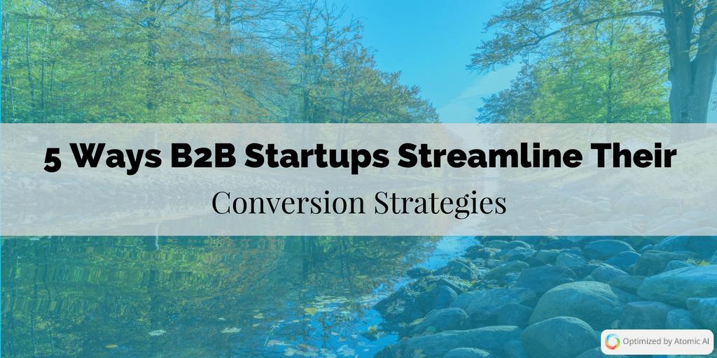 5 Ways B2B Startups Streamline Their Conversion Strategies