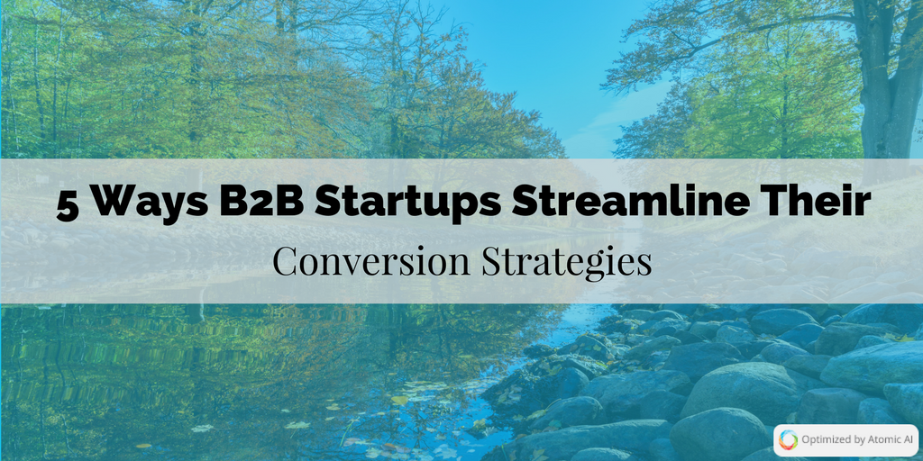 5 Ways B2B Startups Streamline Their Conversion Strategies