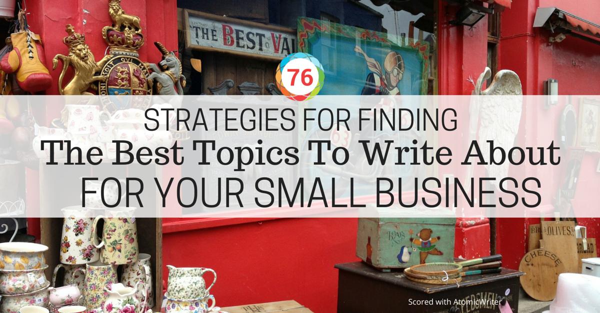 good topics for blog writing